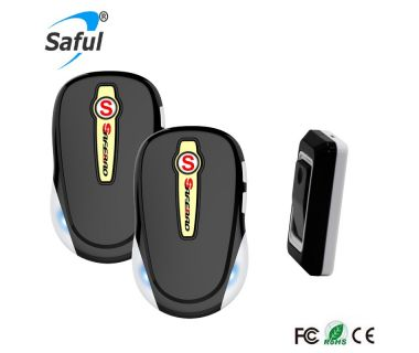 2017 newest rainproof Saful TS-K508 wireless doorbell with flash LED and 28 ringtones
