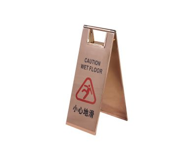 Resistant metal foldable stop sign