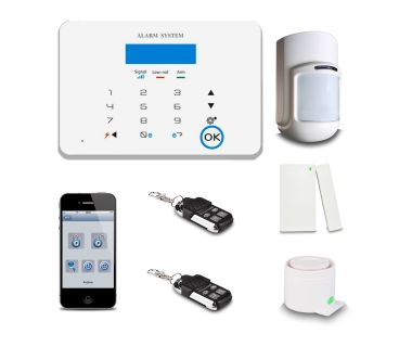 Saful GSM-X6 Touch button GSM+PSTN intelligent security alarm system CID wireless security system