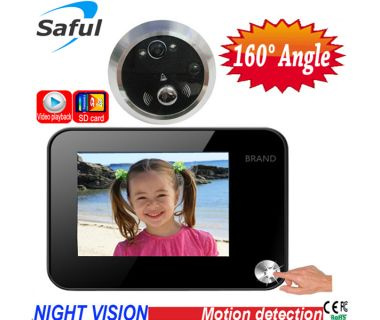 OEM 3.5 inch taking picture/video/motion detection peephole door viewer Saful TS-YP3511