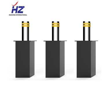 2019 Full automatic stainless steel LED hydraulic road rising bollard barrier lifting column blocker