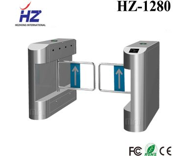 Electric swing barrier access gate swing barrier bi-directional turnstile