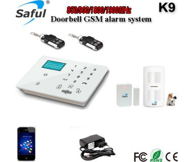 New Product Community Security Built-in Temperature Sensor Access Control Wireless GSM Focus Alarm System
