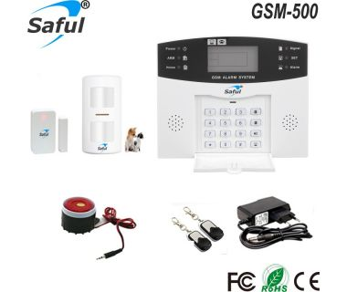 Saful GSM security systems alarm gsm Home Alarm systems with Anti-pets PIR sensor