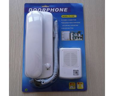 Wired 2-way intercom audio door phone with fuction of unlocking